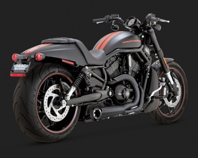 Černý Vance & Hines výfuk COMPETITION SERIES 2-INTO-1 pro Harley-Davidson - Vance & Hines