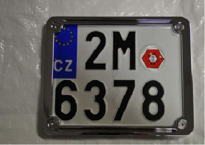 Chromovaný rámeček pro SPZ (CZ)