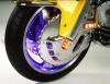 Chromovaný osvětlený kryt kotouče - 3 barvy - Big Bike Parts - Show chrome