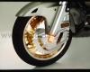 Chromovaný kryt kotouče s oranžovým osvětlením Honda GL 1800 - Big Bike Parts - Show chrome