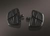 Černé stupačky řidiče / spolujezdce s adaptérem - Kuryakyn